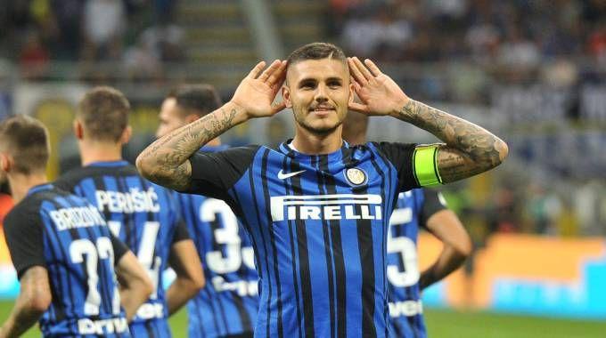 Icardi in gol due volte contro la Fiorentina (Newpress)