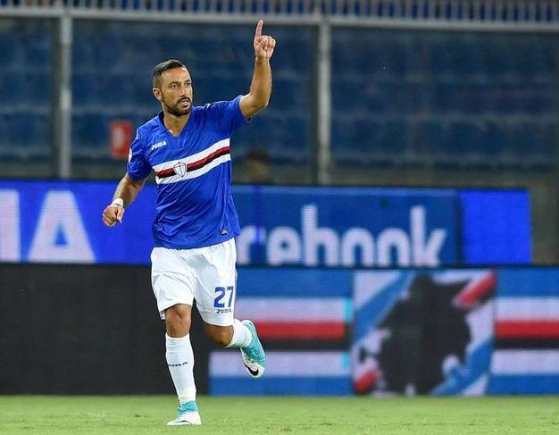 Sampdoria-Benevento 2-1, Quagliarella (Ansa)