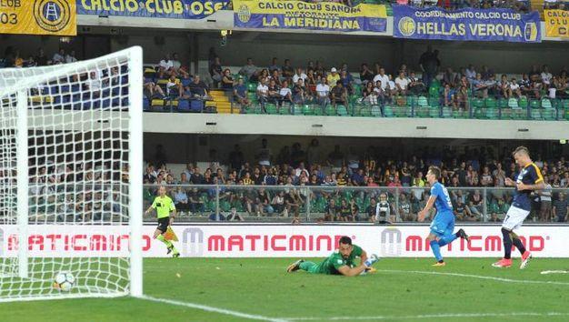 Verona-Napoli 0-2, Milik (Newpress)