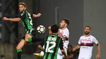 Berardi in azione contro il Genoa (foto LaPresse)