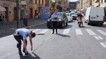 Sul posto la polizia municipale (foto Calavita)