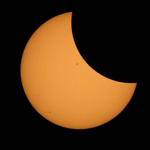 Eclissi totale di sole, immagine della Nasa (Afp)
