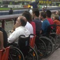 Disabili assistono a un match a San Siro