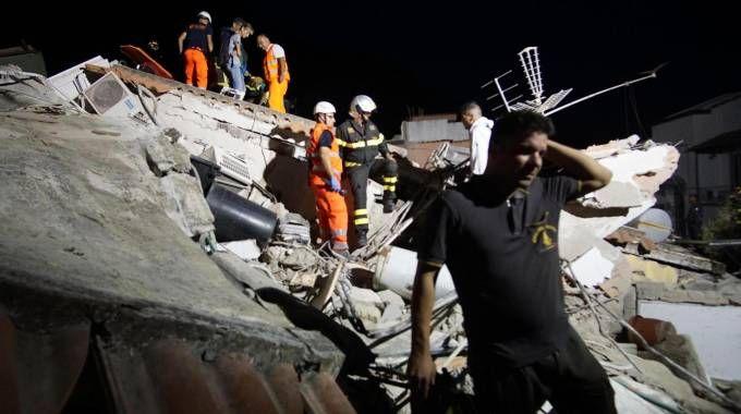 Il terremoto a Ischia (foto Ansa)
