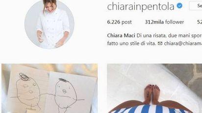 Il profilo Instagram di Chiara Maci