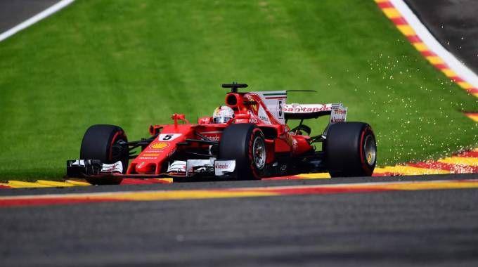 Formula 1 Gp Belgio. Sebastian Vettel (Afp)