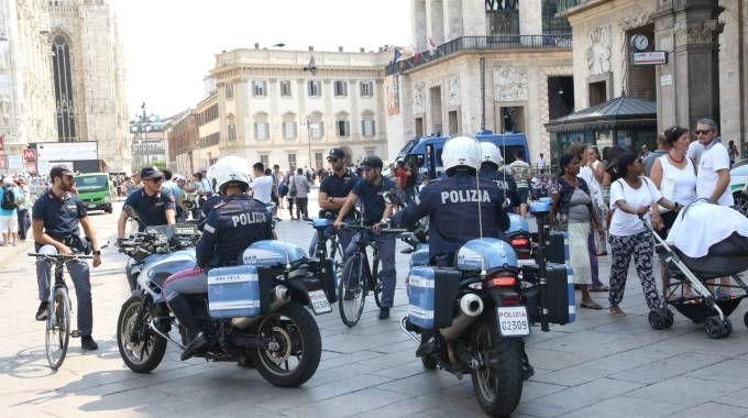 Controlli della polizia (Newpress)