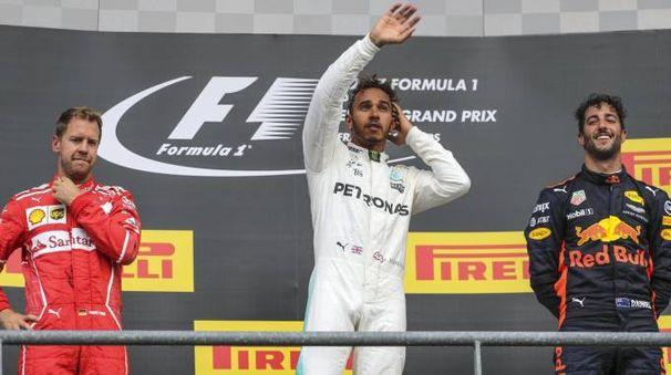 Formula 1, Gp Belgio: sul podio Hamilton, Vettel e Ricciardo (Ansa)