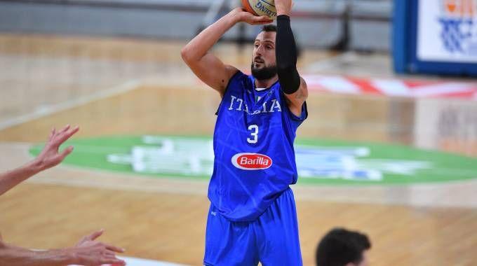 Europei basket. Una foto d'archivio di Marco Belinelli  (foto Ciamillo)
