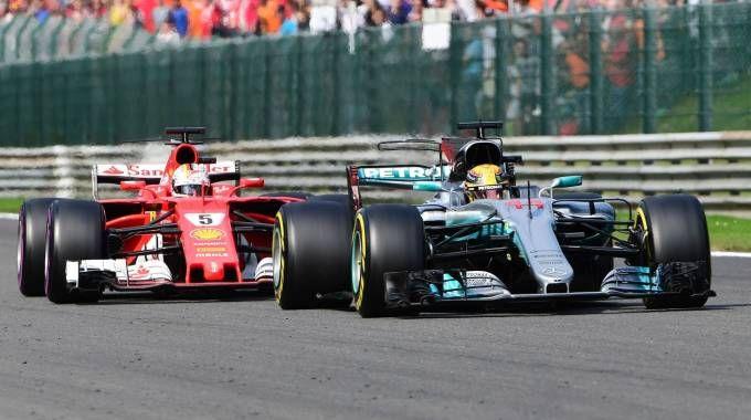 Formula a Gp di Monza, sarà battaglia Vettel-Hamilton (Afp)