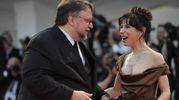 Il regista Guillermo Del Toro e l'attrice Sally Hawkins (Afp)