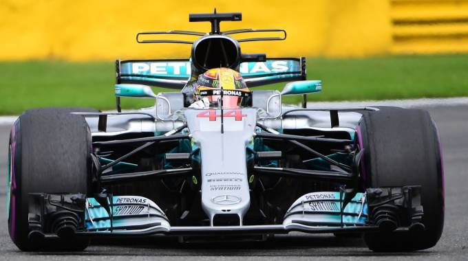 Gp Monza 2017, il pilota Lewis Hamilton (Afp)