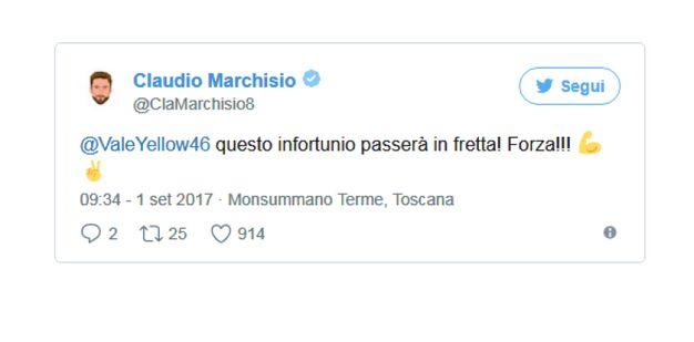 Claudio Marchisio (da Twitter)