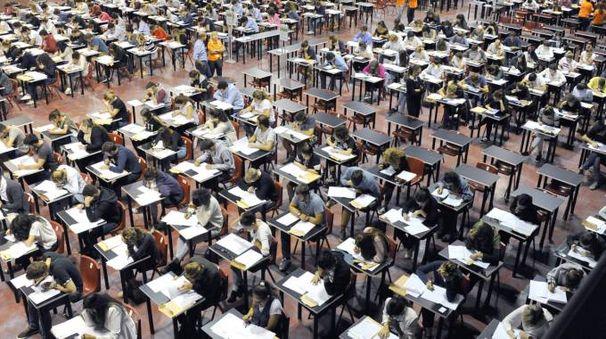 Studenti al test