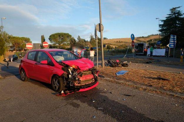 L'incidente (foto Frasca)