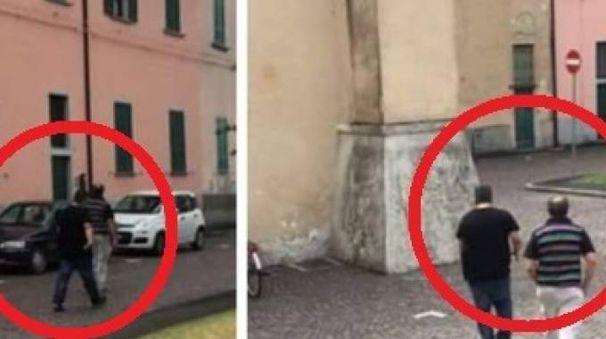 Due scatti dei ladri in fuga