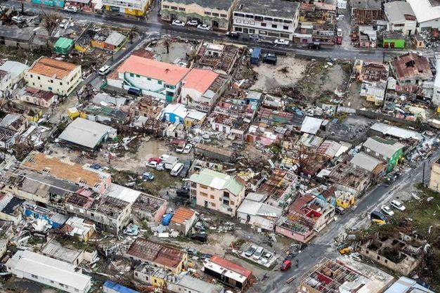 La devastazione di Irma vista dall'alto (Lapresse)