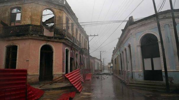 Uragano Irma, strade deserte a Cuba (Ansa)