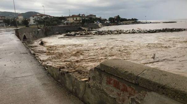 Nubifragio, i danni nella zona dei Tre Ponti (Novi)