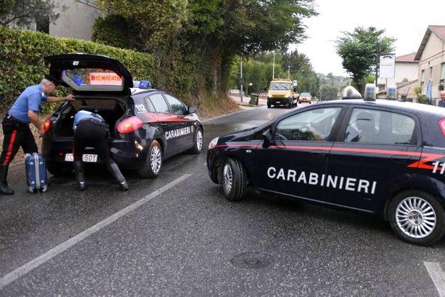 Le forze dell'ordine sul luogo dell'incidente (foto De Marco)