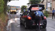I rilievi dei carabinieri (foto De Marco)