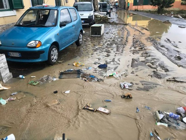 Allagamenti, alberi caduti, auto trascinate e invase dall'acqua, case scoperchiate (Foto Novi)