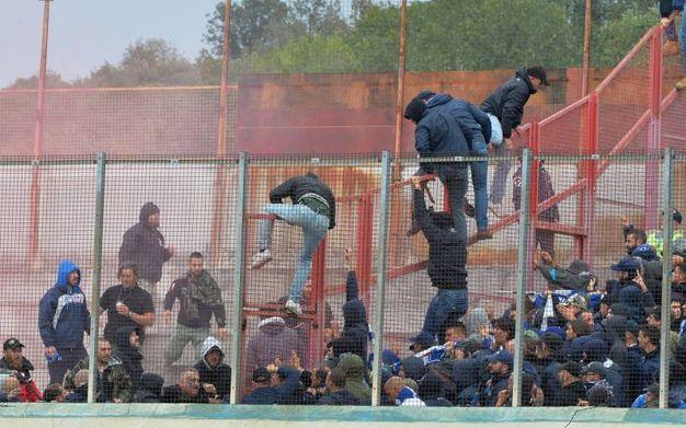 """Gli scontri al """"Franco Ossola"""" (Newpress)"""