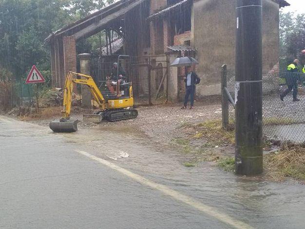 L'esondazione del Fossadazzo ha allarmato i cittadini di San Fiorano