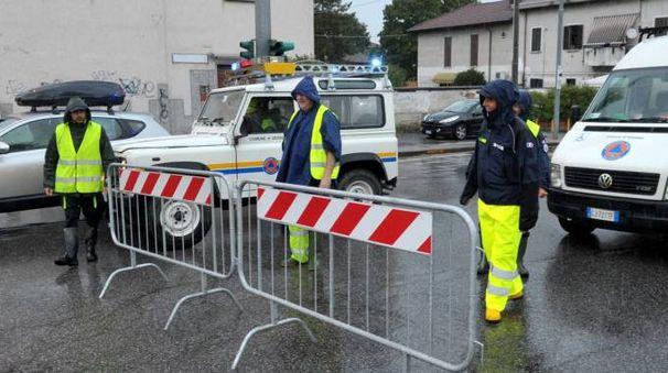 Protezione civile all'opera