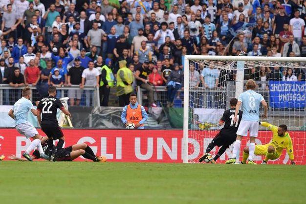 Lazio-Milan 3-0, Immobile (LaPresse)