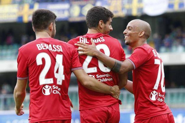 Verona-Fiorentina 0-5, Gil Dias (Ansa)
