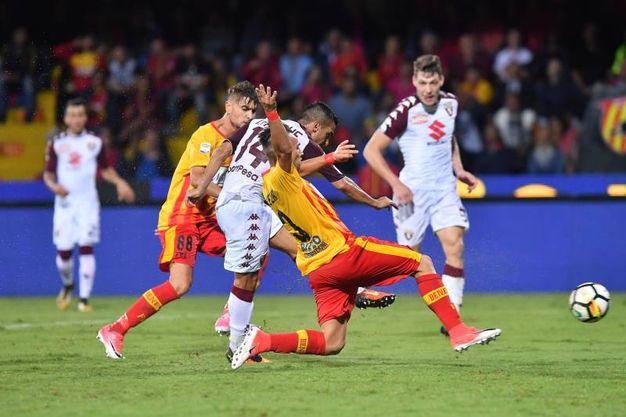 Benevento-Torino 0-1, Falque (Lapresse)