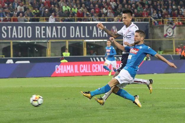 Bologna-Napoli 0-3, Mertens - Ansa