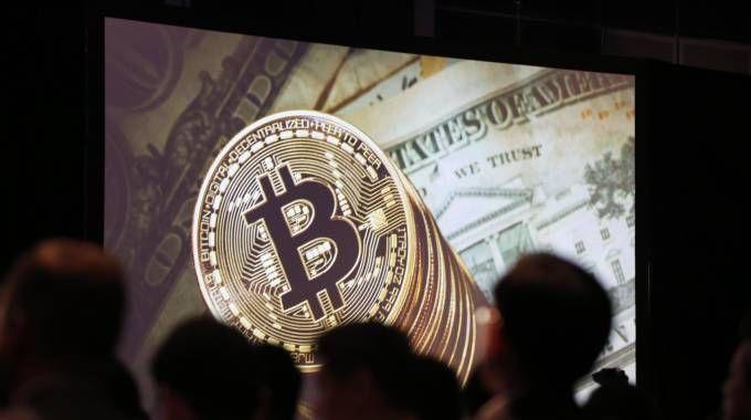 Un congresso sui Bitcoin (Ansa)