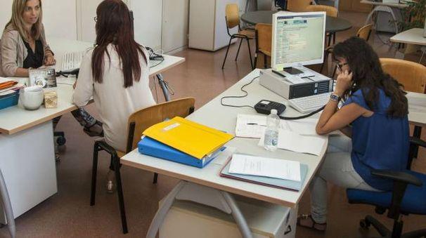 Operatrici al lavoro in un ufficio del Job Pesaro