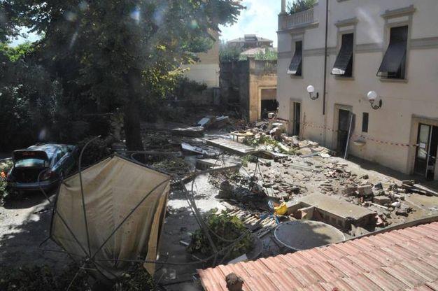 La villetta dove sono morte 4 persone a Livrono (Ansa)