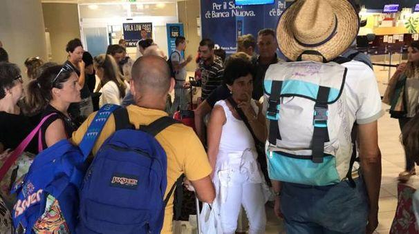 I passeggeri in aeroporto