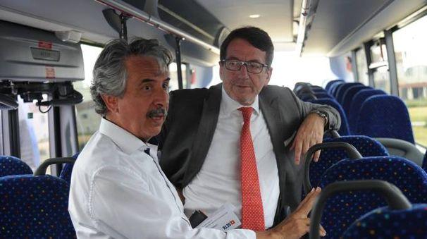 Il presidente Seta, Vanni Bulgarelli, e il sindaco Giancarlo Muzzarelli (foto Fiocchi)
