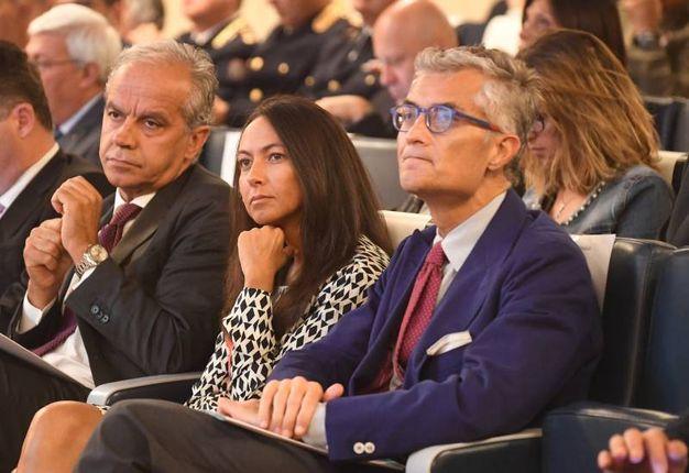 Il prefetto Matteo Piantedosi, l'assessore comunale al Traffico Irene Priolo e il procuratore capo Giuseppe Amato (fotoschicchi)