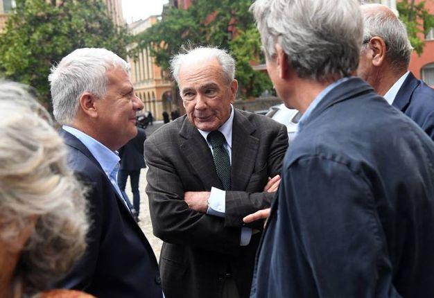 Il ministro Gian Luca Galletti con Giuseppe Gazzoni Frascara (foto Schicchi)