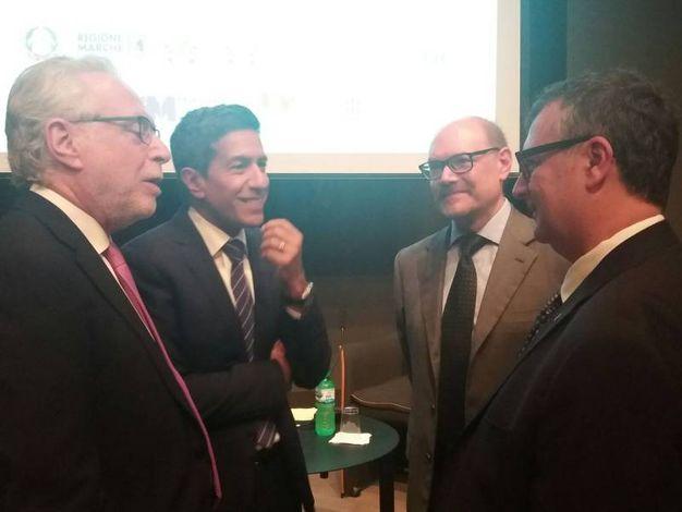 Da sinistra, Wolf Blitzer, il dr Sanjay Gupta, Gabriele Cavalera e Giovanni Lani