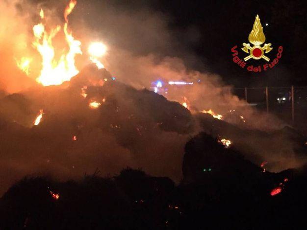 L'incendio alla Cascina Caldera
