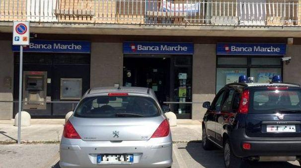 La filiale di Banca delle Marche di Casette d'Ete