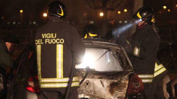 Vigili del fuoco al lavoro (Fotolive)
