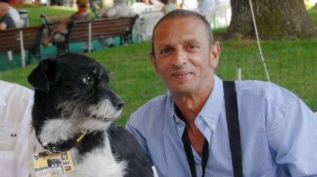 Polifemo con l'inseparabile amico e padrone  Moreno Pizzichini