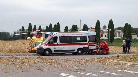 I soccorritori del 118 che hanno tentato di salvare il piccolo