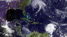 L'uragano Jose nell'Oceano Atlantico e Maria nel mar dei Caraibi (Ansa)