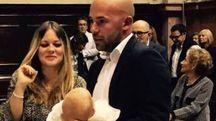 La foto del battesimo postata da Lorenzo Rossi Sturani