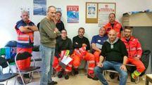 Una rappresentanza dei lavoratori di Italy Emergenza