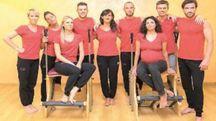 Alcuni istruttori dello Studio Zen pilates di via Campo d'Appio
